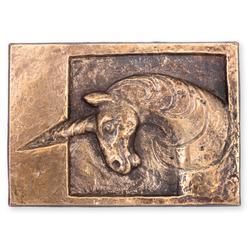 Einhorn: Bronze, patiniert